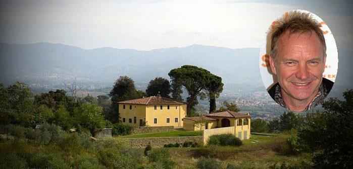 BINNENKIJKEN in de ITALIAANSE VILLA van STING die u kunt huren (gaat de zanger zelf in het gastenverblijf slapen)