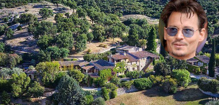 BINNENKIJKEN op het spectaculaire Zuid-Franse landgoed (met café en kapel) van JOHNNY DEPP dat hij verkoopt met een KORTING van 24 MILJOEN!