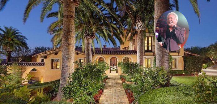 BINNENKIJKEN bij ZANGER en VROUWENMAGNEET TOM JONES die zijn villa in L.A. verkoopt voor ruim 11 MILJOEN dollar